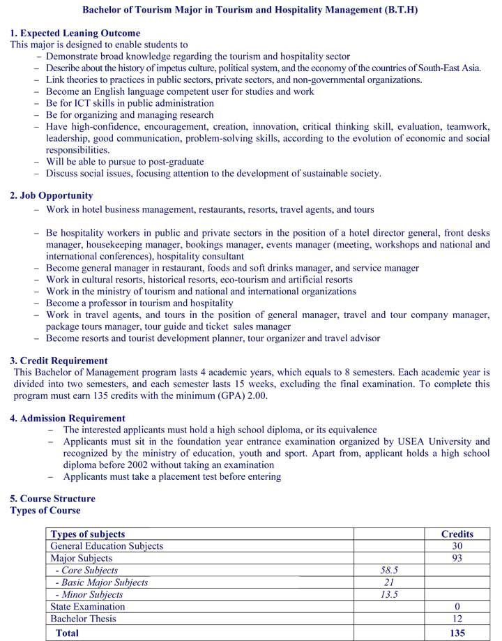 bachelor degree without thesis How to apply / graduate  want to earn a master's degree without a thesis  tourism management offers bachelor's and master's degree concentrations in .